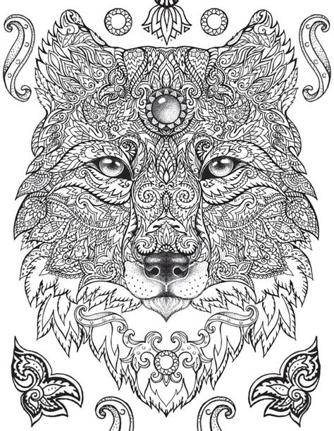 mandala wolf ideas  pinterest animal mandala