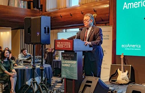 I enjoyed seeing Senator Al Franken (@SenFranken) speak at the 2017 American Climate Leadership Summit...