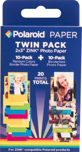 Polaroid Premium Zink Photo 2 X 3 20 Count Paper Polz2x320mix