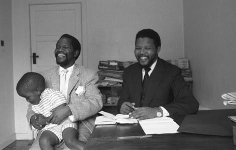 Nelson Mandela, Oliver & Dali Tambo, 1962
