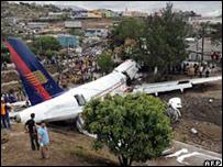 Avión de TACA se estrelló  en Honduras (2008)