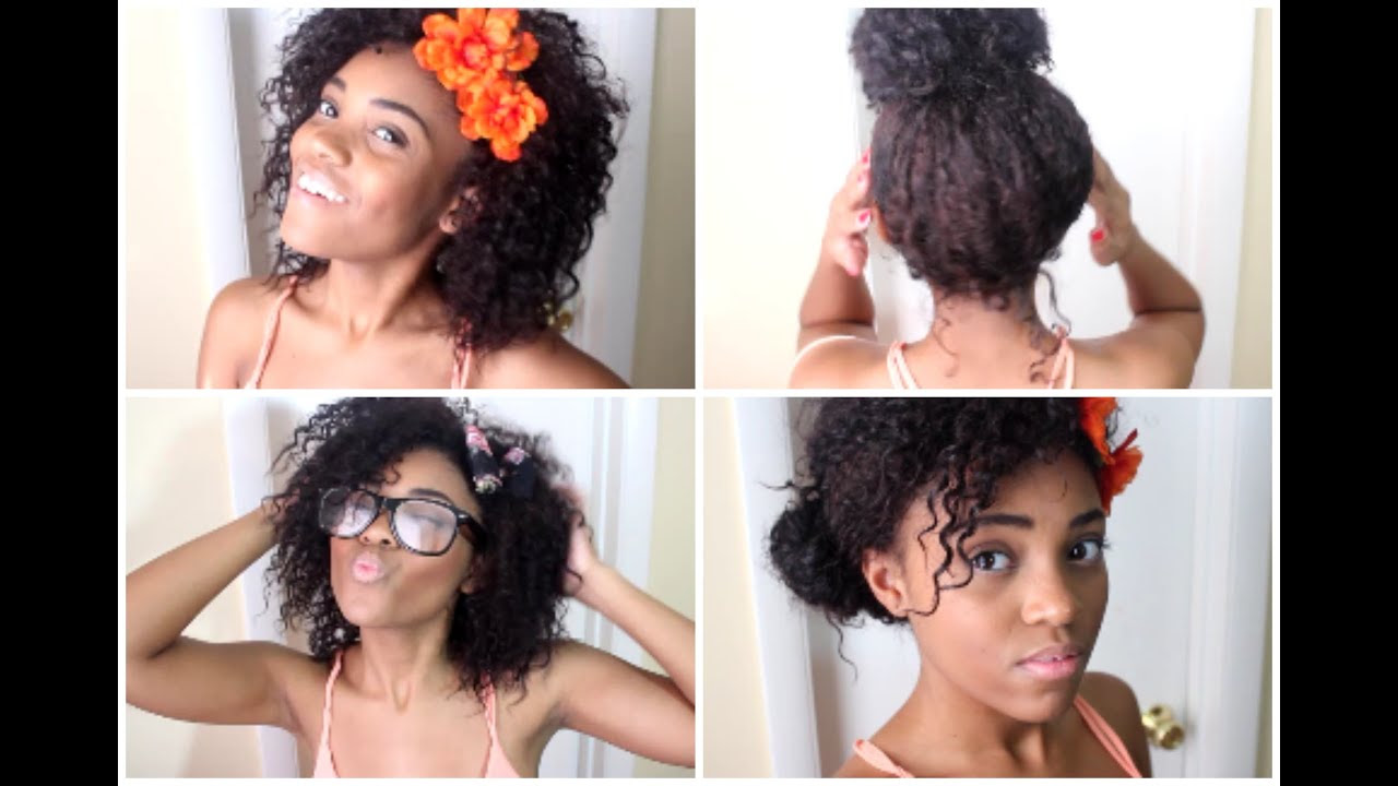 Back To School Curly Hairstyles! - YouTube