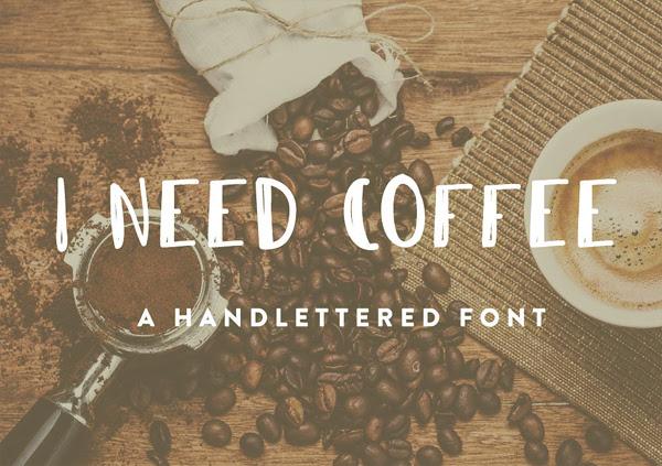 Necesito el café gratuito Brush Fuente