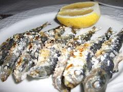 Espeto de sardinas (un chiringuito de Málaga)