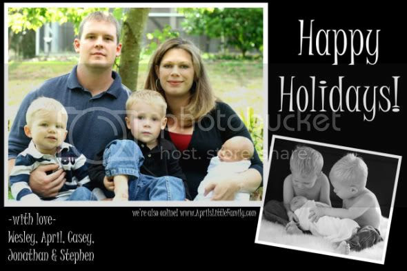 april,wesley,casey,jonathan,stephen,holiday card,2009