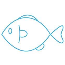 無料イラスト素材シンプル小魚a44