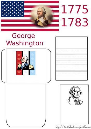 lapbook Guerre d'Indépendance des Etats Unis 1