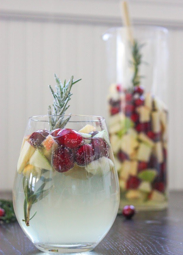 Rosemary Cranberry White Wine Sangria