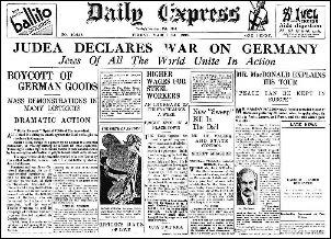 La prima pagina di un giornale d'epoca allo scoppio della seconda Guerra Mondiale