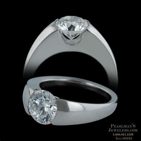 Michael Bondanza Platinum Union Engagement Ring