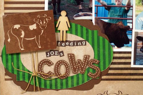 Moxxie Farm Cow Title Spellbinders Labels Susie Bentz
