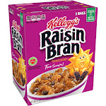 Kellogg's Raisin Bran Cereal - 2 pack, 76.5 oz box