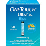 OneTouch Ultra Blue Blood Glucose Test Strips (50 Count) Exp: 02/28/2021