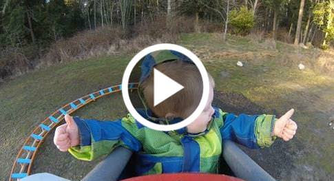 Dad Builds A Backyard Roller Coaster