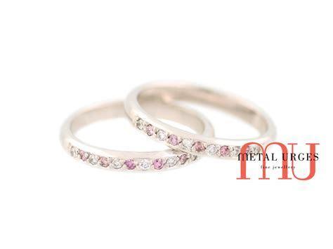 Pink Australian Argyle and white diamond 18ct white gold