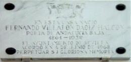 Imagen de Placa: Nace Fernando Villalón