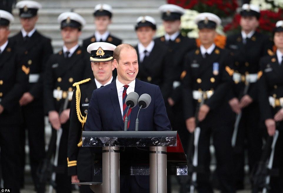 """William falou da recepção calorosa que receberam quando foram última no Canadá, acrescentando que eles estavam animado que seus filhos George e Charlotte poderia """"começar a sua própria vida de amizade com este país maravilhoso '"""