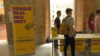 Les universitats públiques catalanes donen suport al referèndum