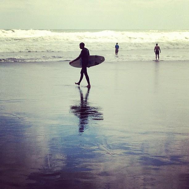 Afternoon surf, Maori Bay