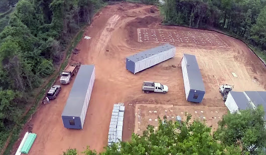Aerial Video of a Charlotte, NC Construction Site for the Kennedy Charter School