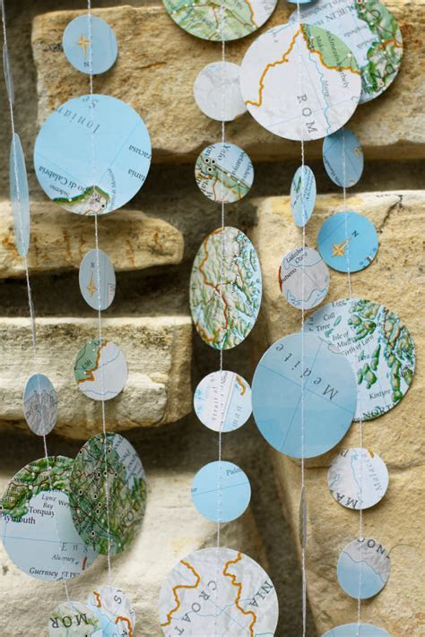 map garland travel theme wedding travel theme shower map