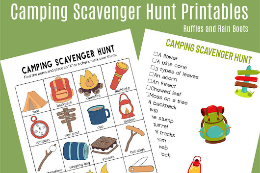 Camping Scavenger Hunt - Printables for Two Age Groups! - Ruffles and Rain Boots