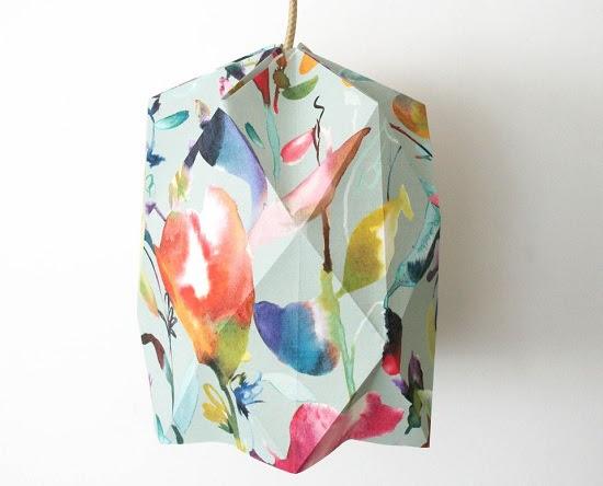 عمل مصباح أوريجامى من ورق الحائط