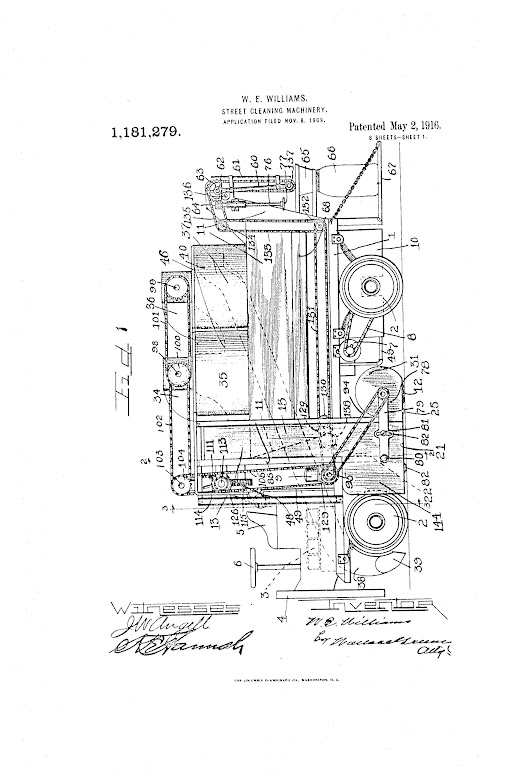 Patent of the Day: Street Cleaning Machine -
