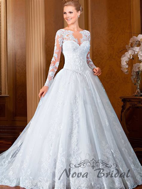 2015 New Design Ball Gown Lace Beading Luxury Bride Gowns