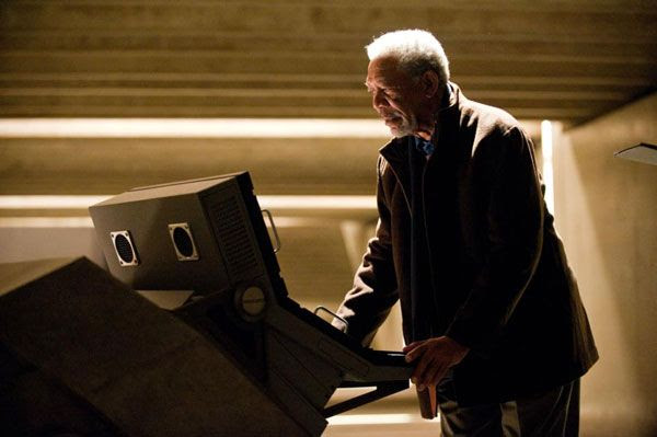 Morgan Freeman as Lucious Fox in THE DARK KNIGHT RISES.