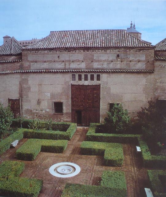 Palacio de Fuensalida en 1979. Jardín que une el Palacio de Fuensalida con el Taller del Moro