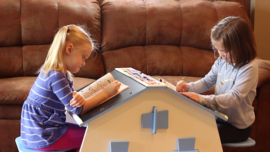 Kids Double Desk - A unique desk made for kids