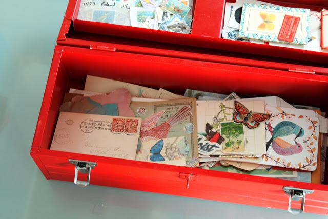 Box of Paper treasures.