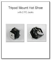 PJ1069: TripodMount Hot Shoe with 2 PC Jacks
