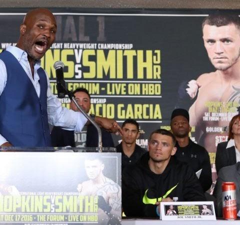 "Hopkins on Smith Jr.: ""I'm Going to Spank Him""  #Boxing #Boxeo #RBRBoxing #RoundByRoundBoxing #BoxingNews..."