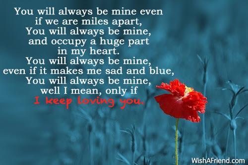 You Will Always Be Mine Romantic Poem