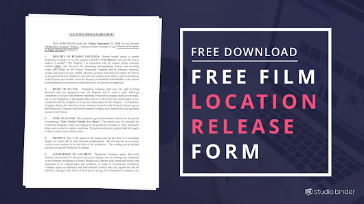 Download FREE Film Location Release Form Template | Filmmaking Tips