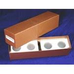 ((.50) Half Dollar / Brown) - Single Row Storage Box & 100 2x2 Holders HALF DOLLARS