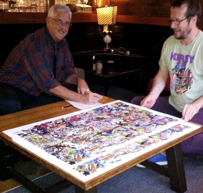 New huge edition of Tom Morehouse's epic collage debuts at NYCC!