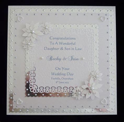 wedding day card  sondaughterfriendsetc personalised