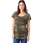 Alternative Origin Printed Cotton Modal T-Shirt M Camouflage , Alternative Apparel