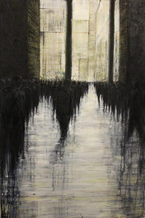 Illustration art people depressed sad collection city ...
