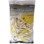 """Pride ProLength 2 3/4"""" Golf Tees Yellow 100 - White"""