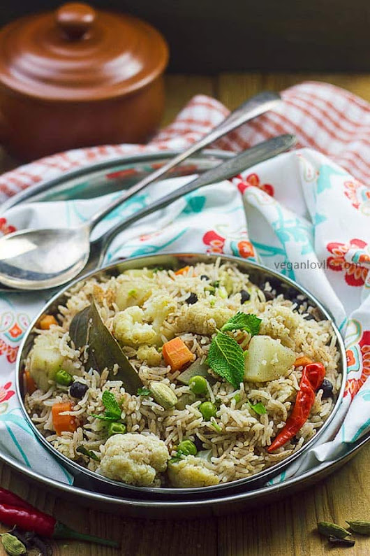 Vegetable Pulao Recipe - 30-minute One Pot Rice Dish