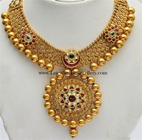 Elegant Kundan Bridal Gold Necklace   Jewels   Jewelry