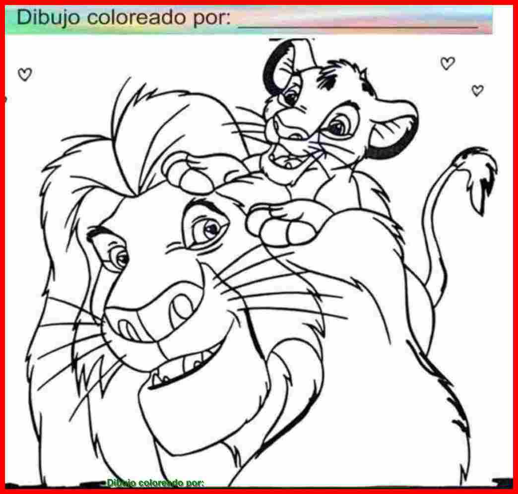Dibujo De Rey León Para Colorear E Imprimir