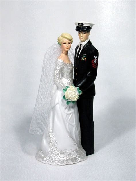 Our Special Day Navy Enlisted Groom Blues Cake Top