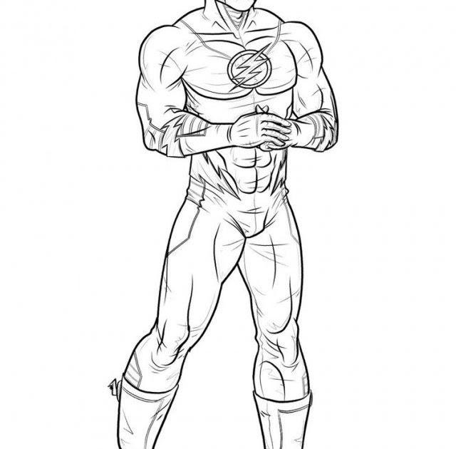 ausmalbilder superhelden flash