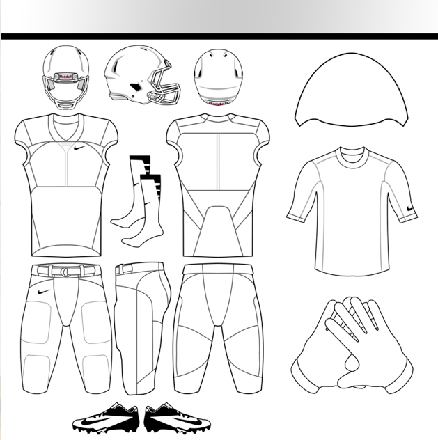Nike Uniforms: Nike Football Uniform Template Psd