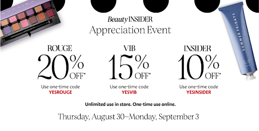 Sephora Beauty Insider Sale Fall Event 2018